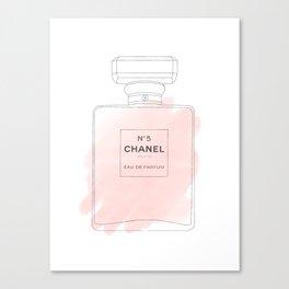 pink watercolor perfume Canvas Print