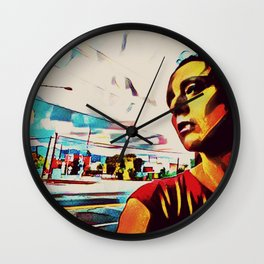 Looking West Wall Clock