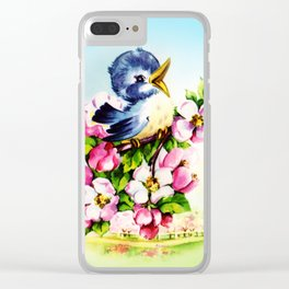 Morning Bluebird Clear iPhone Case