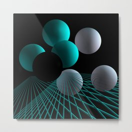 converging lines -2- Metal Print