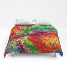 Color Theory Clash Comforters