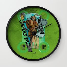 "Ars Tarot of the 12 Zodiac: ""Virgo - The Hermit"" Wall Clock"
