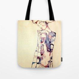 Purple Lady Tote Bag