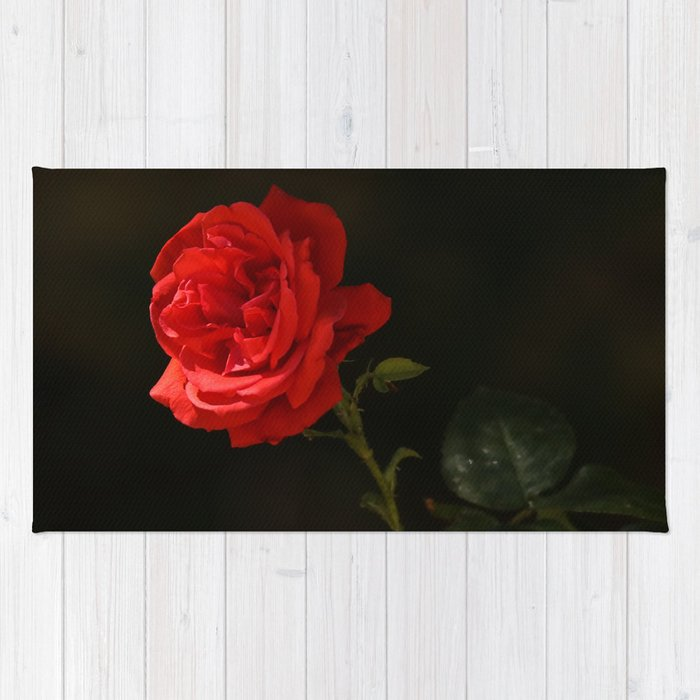 The Wild Red Rose Rug