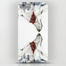 Twin Coyotes iPhone Case