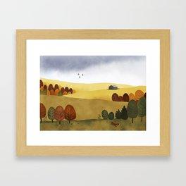 Autumn stillness Framed Art Print