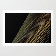 Night Building Facade Art Print