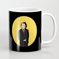 tintin Mugs featuring Tintin style Mycroft by thediogenes