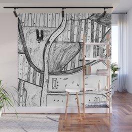 Farmland Drawing Wall Mural