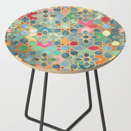 Gilt & Glory - Colorful Moroccan Mosaic Side Table