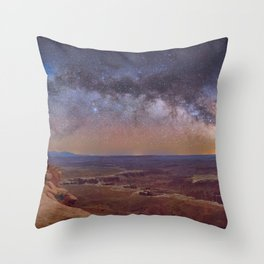 Nightscape Arches National Park Panorama Utah Throw Pillow