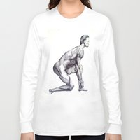 runner Long Sleeve T-shirts featuring Runner by Eugene G