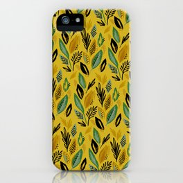 Celadon Leaves iPhone Case