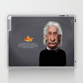 Celebrity Sunday ~ Albert Einstein Genius Fish Laptop & iPad Skin