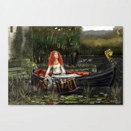 The Lady of Shalott 2017 Canvas Print