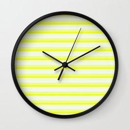 Yellow Stripes Wall Clock