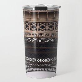 Close Up Eiffel Tower In Paris France Travel Mug
