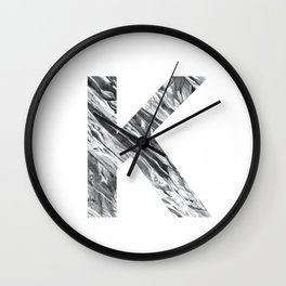 The Letter K- Stone Texture Wall Clock