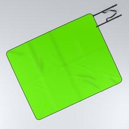 Bright Fluorescent  Green Neon Picnic Blanket