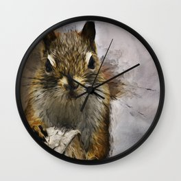 Morning Squirrel Wall Clock