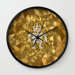 POLYNOID Robot / Gold Edition Wall Clock