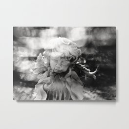 Angel with bird Metal Print