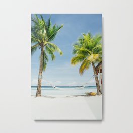 Palm trees, hammock Metal Print