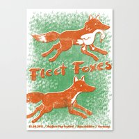 fleet foxes Canvas Prints featuring Fleet Foxes Gigposter by atomic_ocean