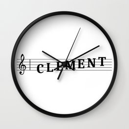 Name Clement Wall Clock