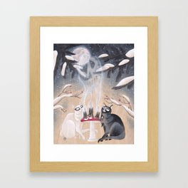 Conjuring Kitties Framed Art Print