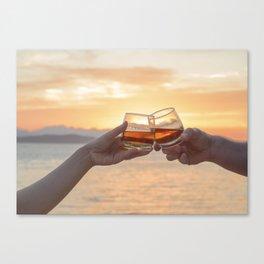 Romantic Evening Toast Canvas Print