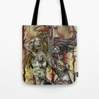 spice Tote Bags featuring Sugar & Spice by Jay Allen Hansen