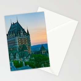 Quebec City Sunset Old Town Print Stationery Cards