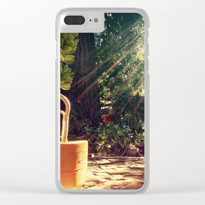 Sunshine on succulents Clear iPhone Case