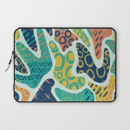 Nostalgic 90s Style Amoeba Hand Drawn Repeating Pattern Laptop Sleeve