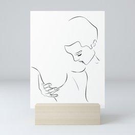 sucer les seins - sucking nipples Mini Art Print