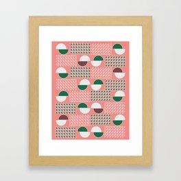Retro construct Framed Art Print