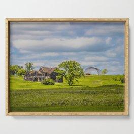 Jumbled Abandoned Farm, Burleigh County, North Dakota 1 Serving Tray