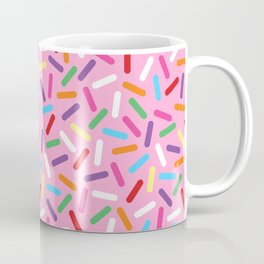 Pink Donut with Sprinkles Coffee Mug