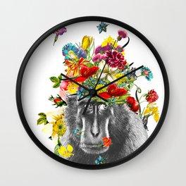Gorilla in the Garden Wall Clock