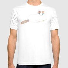 Ragdoll Cat MEDIUM White Mens Fitted Tee