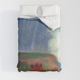 House On Hillside - Arthur Bowen Davies Comforters