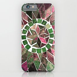 Pink & Green Stone Flower iPhone Case