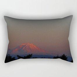 Mount Rainier Moon Rise Rectangular Pillow