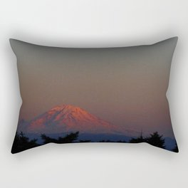 Mount Rainier Moon Rise Rectangular Pillow