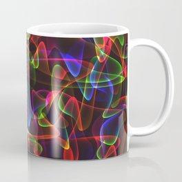 Cosmic glowing red lines in neon smoky style. Coffee Mug