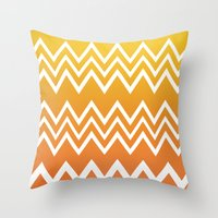 tequila Throw Pillows featuring Tequila Sunrise by Color and Form