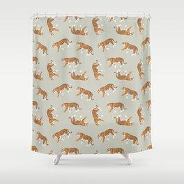 Tiger Trendy Flat Graphic Design Shower Curtain