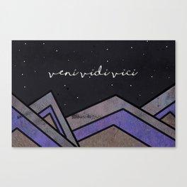 MoveMountains - Veni Vidi Vici Canvas Print