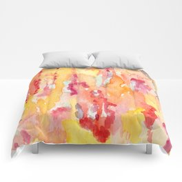 Dripping Watercolors Comforters